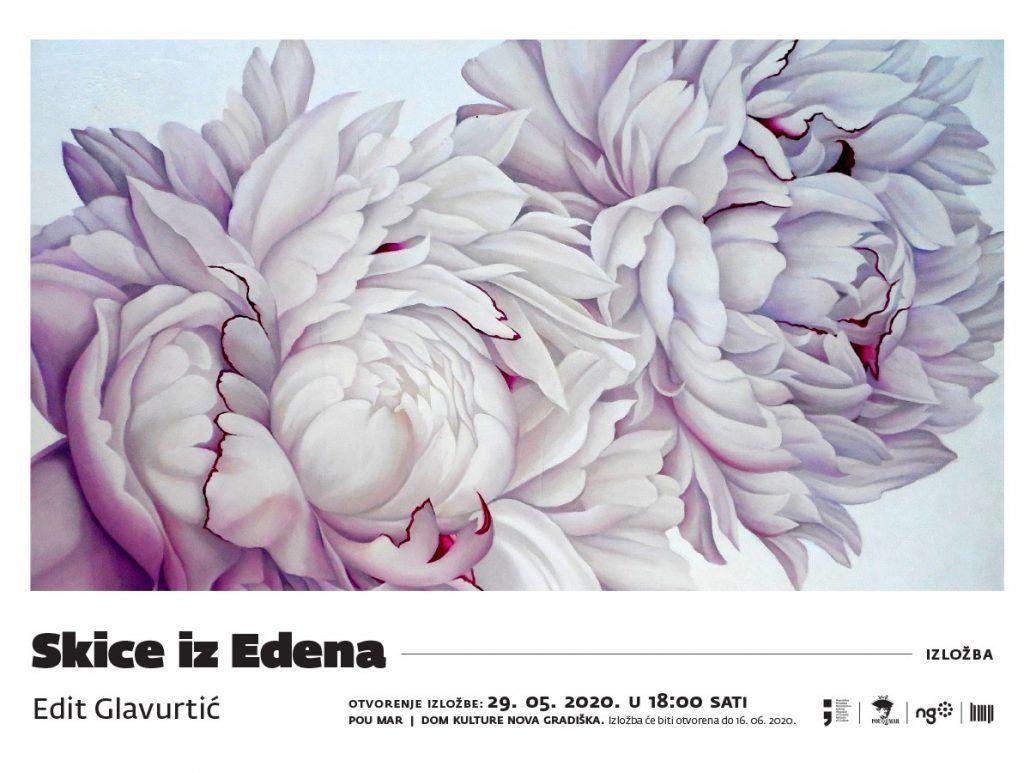 Otvorenje izložbe Skice iz Edena, akademske  slikarice Edit Glavurtić