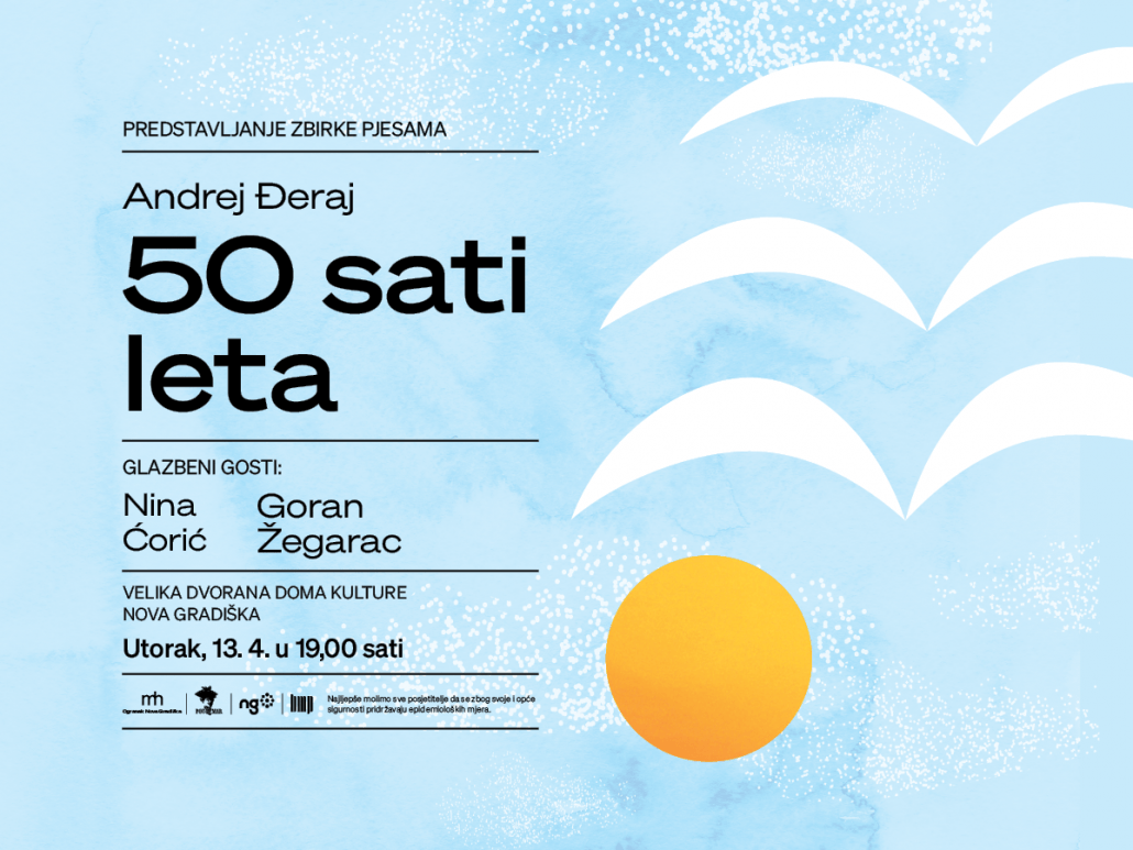 "Predstavljanje zbirke pjesama naziva ""50 sati leta"", mladog novogradiškog autora Andreja Đeraja"