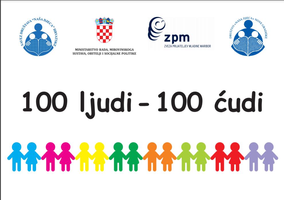 """Društvo Naša djeca i OŠ Mato Lovrak partneri u projektu """"100 ljudi, 100 ćudi"""""""