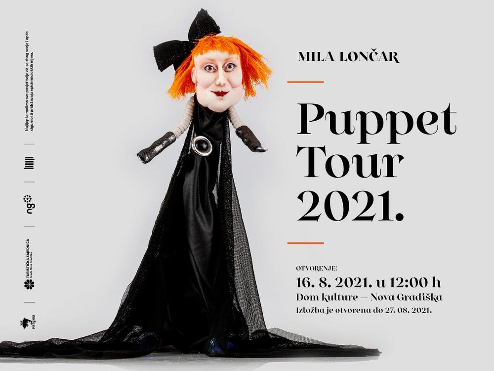 Najava izložbe naziva Puppet Tour 2021